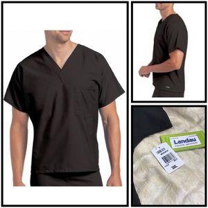 Landau | Unisex V-Neck Reversible Scrub Top | S
